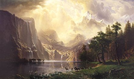 800px-Albert Bierstadt Among the Sierra Nevada Mountains