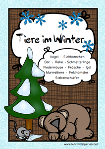 Winter Tiere bunt