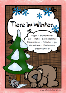 Winter Tiere rot T