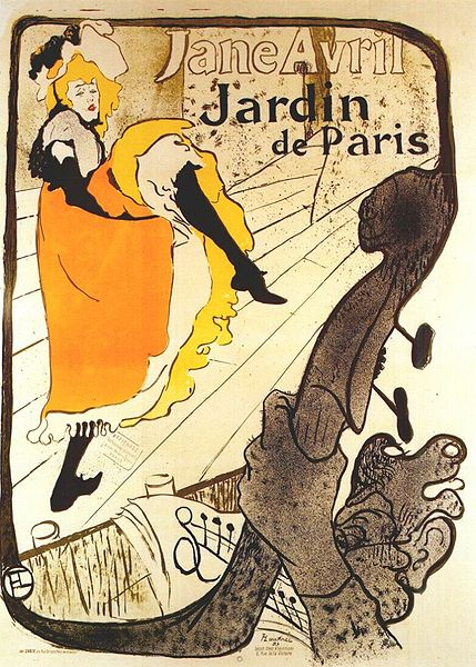 429px Lautrec jane avril at the jardin de paris poster 1893