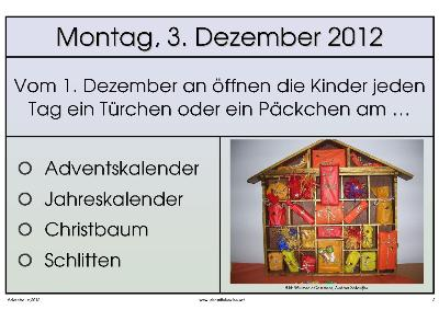 Adventsquiz 20122